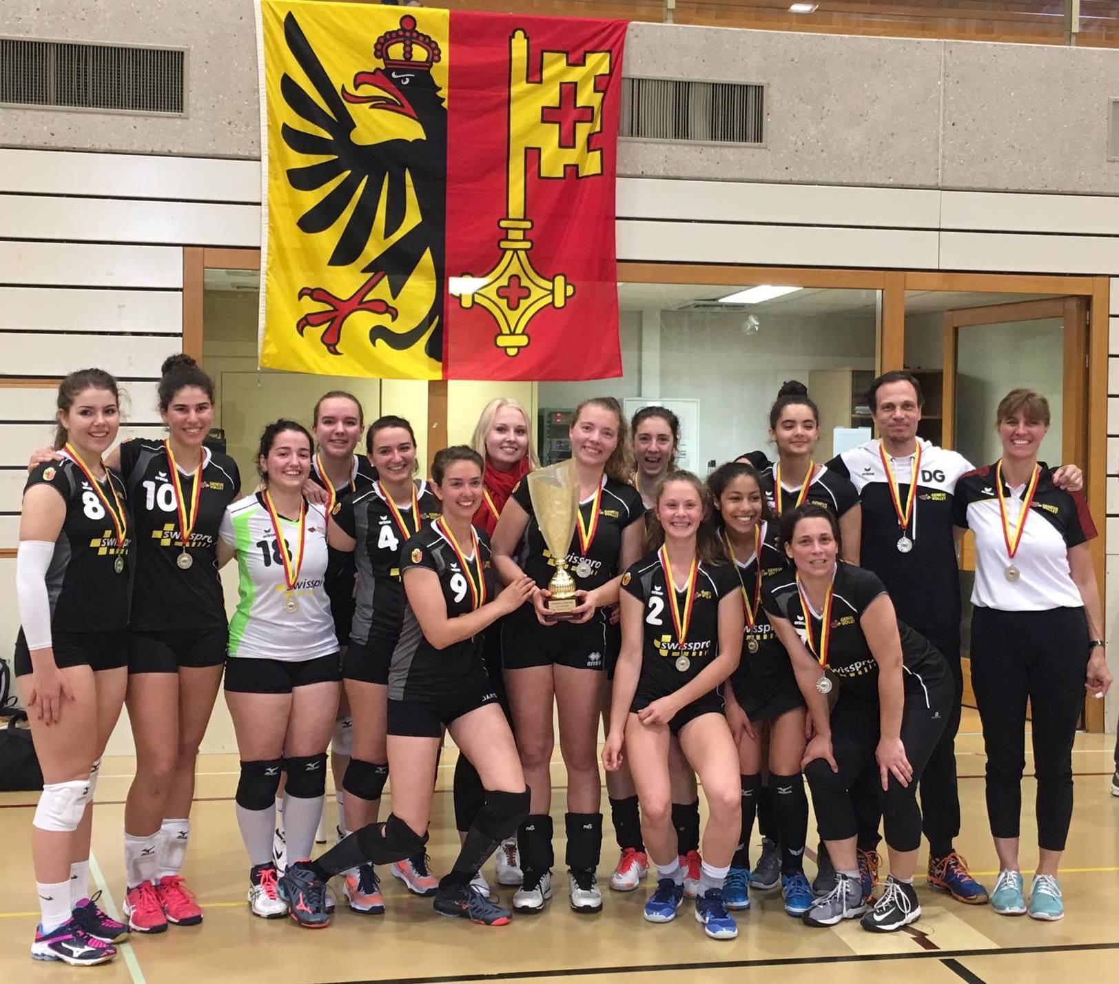 Genève Volley III remporte la Coupe Genevoise 2019 !
