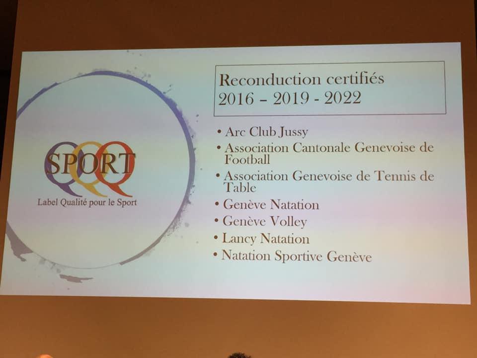 Le Genève Volley voit sa certification qualité reconduite !