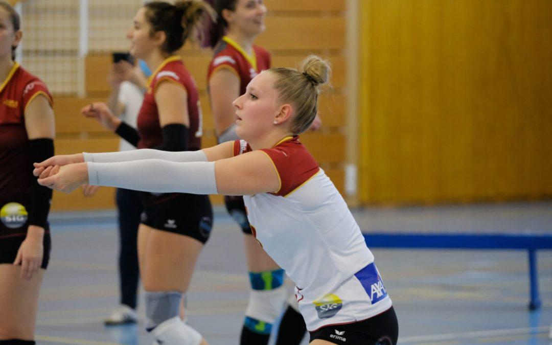 Alyssa Aveni avec l'équipe nationale junior